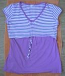 Těhotenská a kojící tunika, bavlna + modal + lycra, vel. M (38/40), zn. Tveret. Prakticky nenošená (schovávala jsem si ji