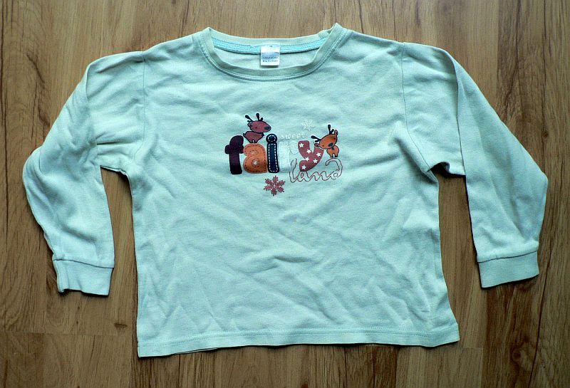 Bílé triko z biobavlny s potiskem zvířat a nápisem Fairy Land. Vel. 92, hodně nošené, 20 Kč.