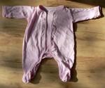 Růžový overálek, bavlna, vel. 0 - 3 měs.